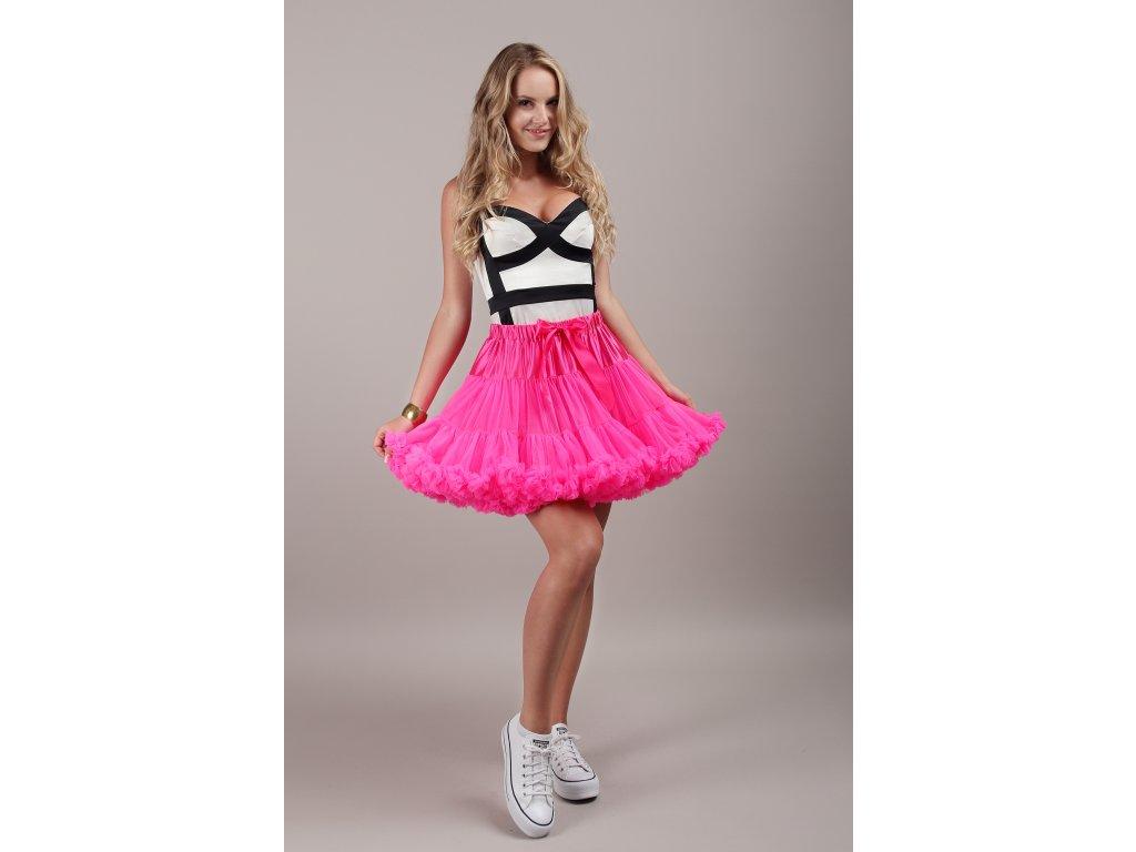 Tutu sukně dámská tylová extra - růžová