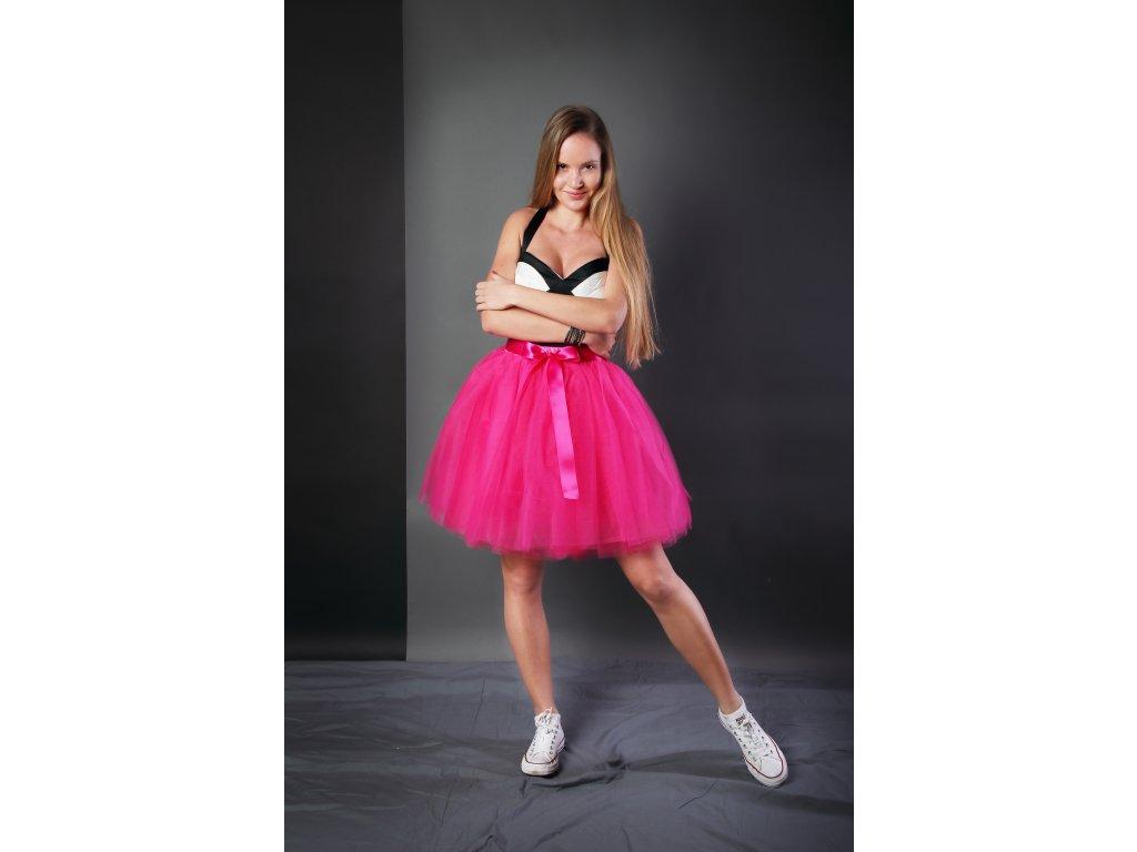 Tutu sukně tylová dámská - růžová