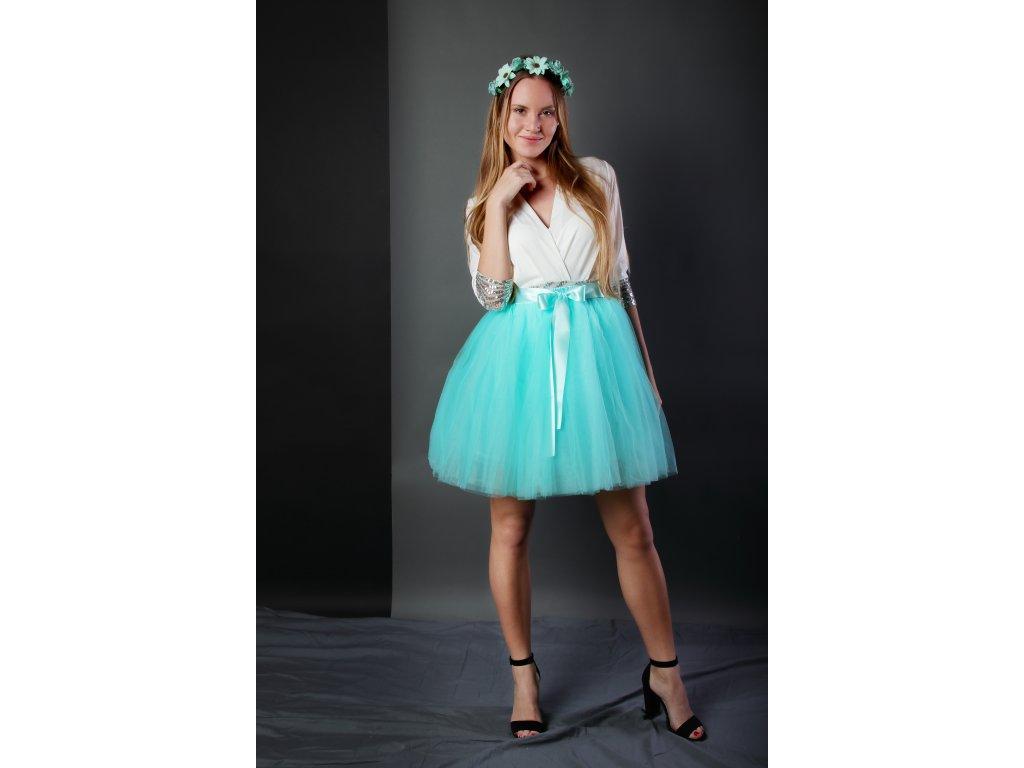 Tutu sukně tylová dámská - mátová