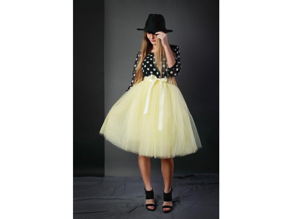 Tutu sukně tylová dámská - žlutá