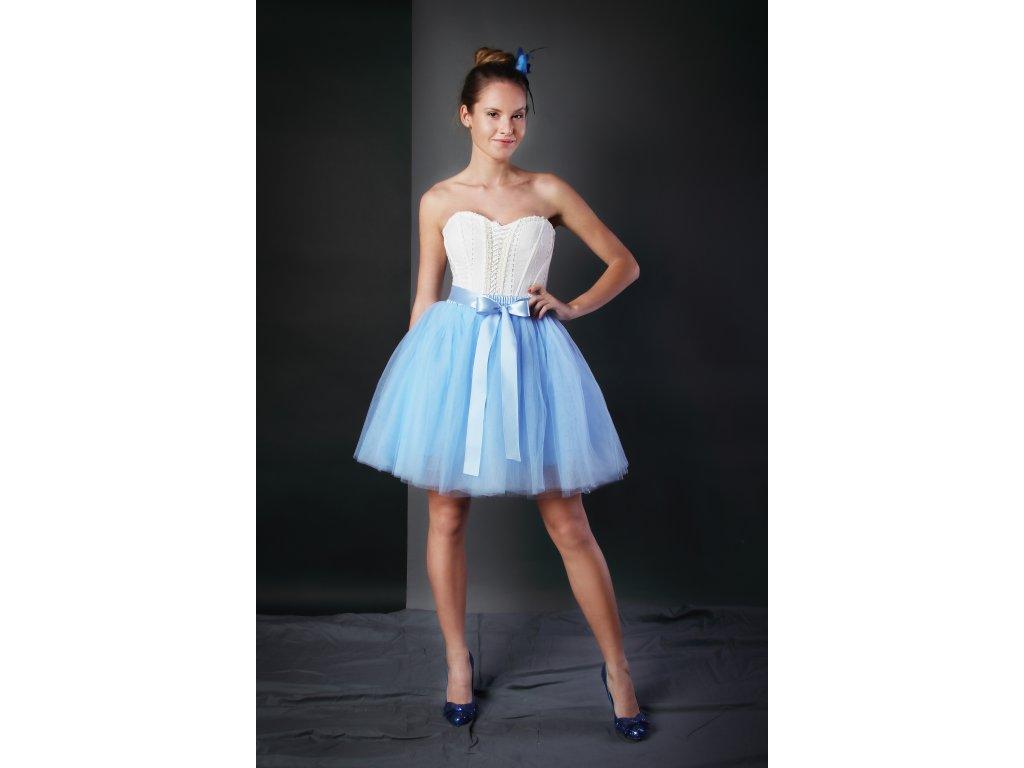 Tutu sukně tylová dámská - světle modrá