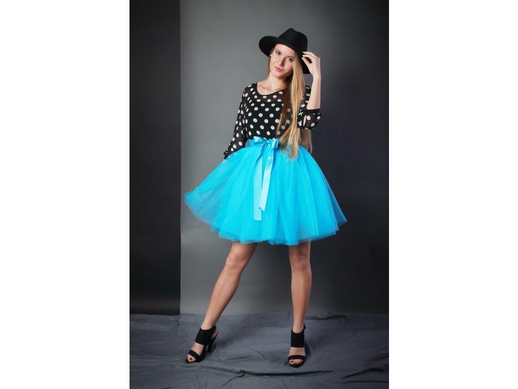 Tutu sukně tylová dámská - tyrkysová