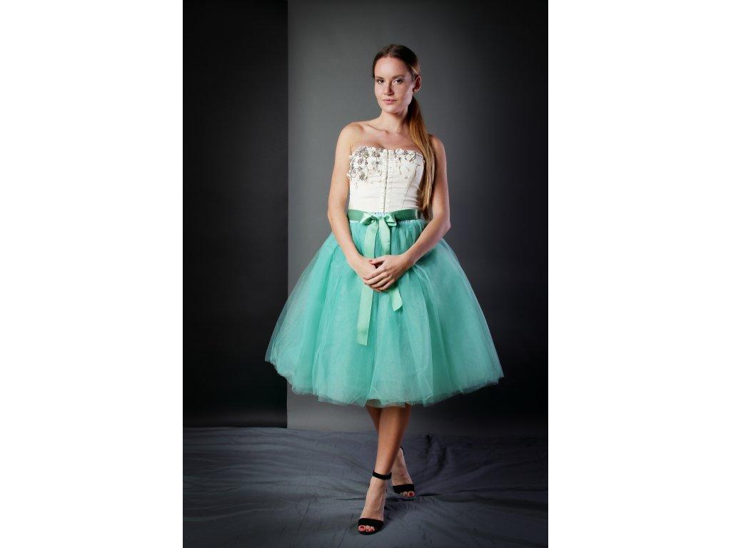 Tutu sukně tylová dámská - světle zelená