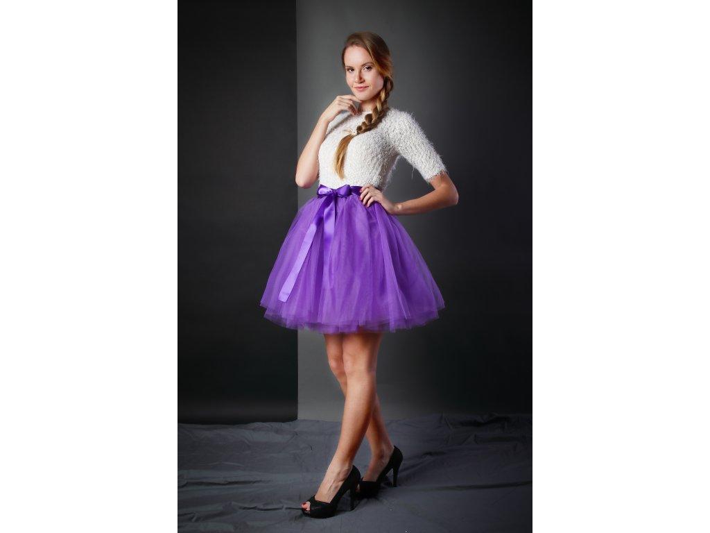 Tutu sukně tylová dámská - fialová