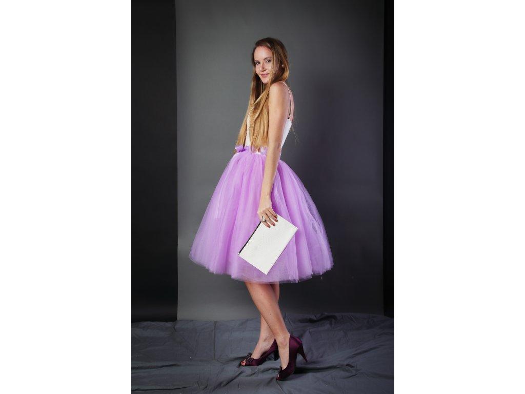 Tutu sukně tylová dámská - šeříková