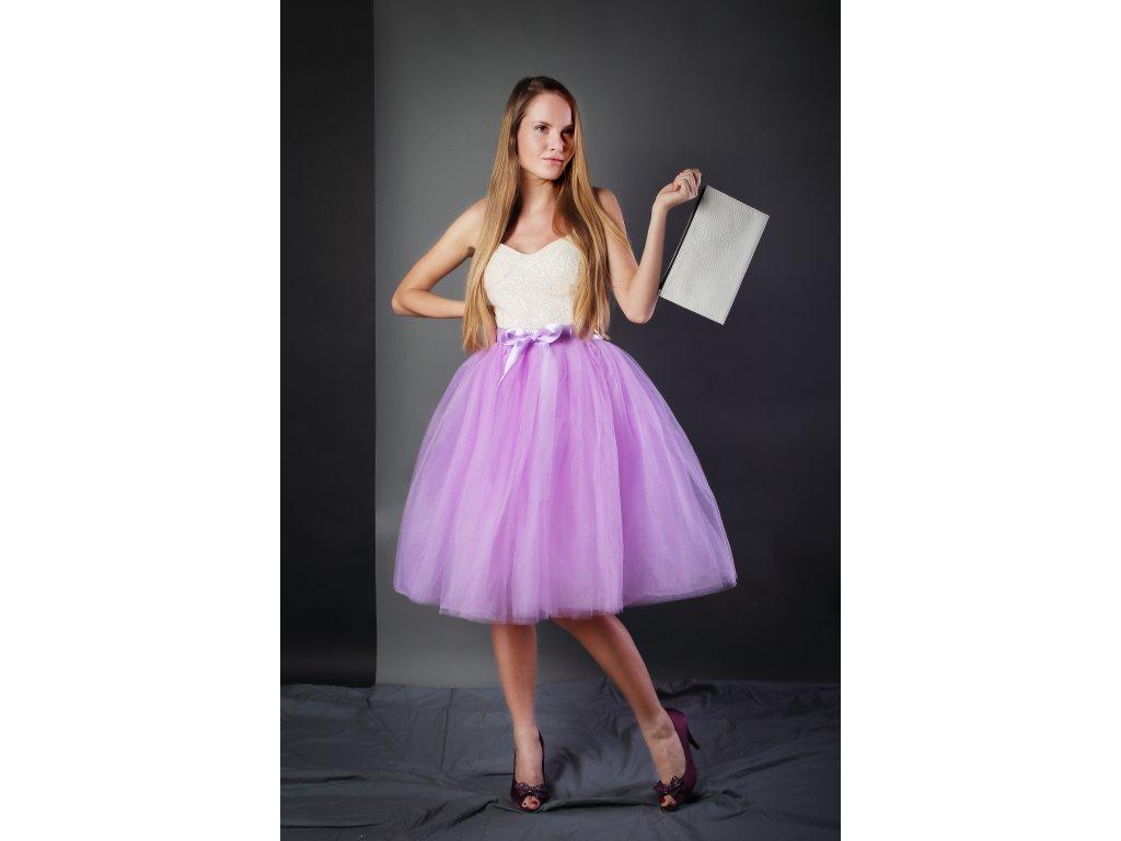 Tutu sukně tylová dámská - šeříková- družičky