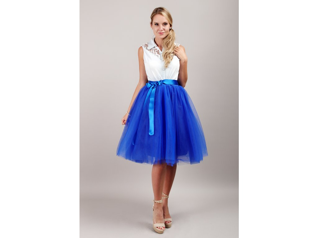 Tutu sukně tylová dámská - královsky modrá