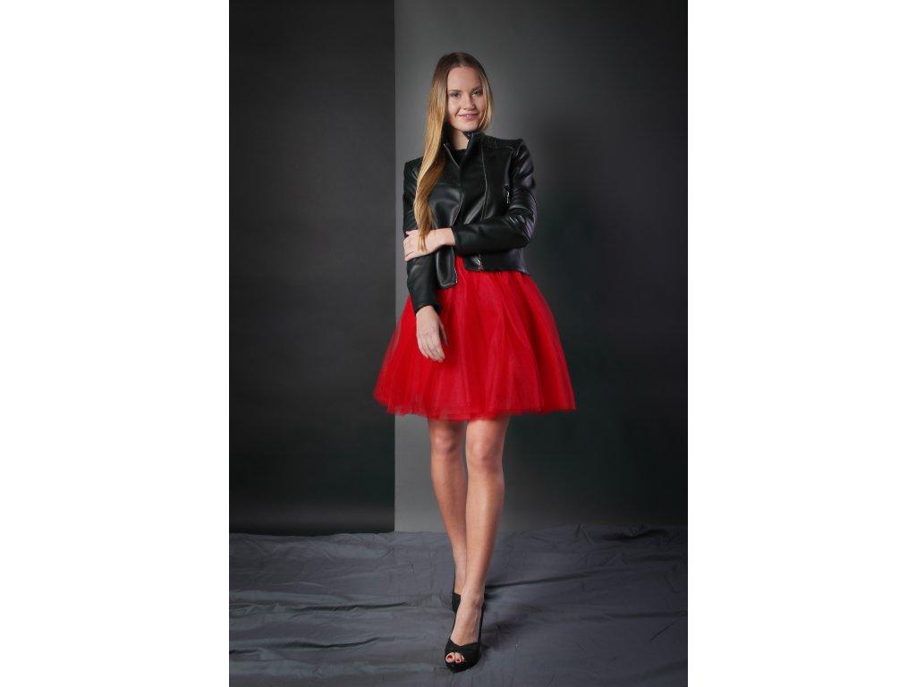 Tutu sukně tylová dámská - červená