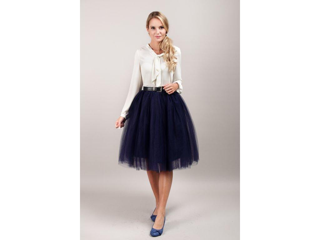 Tutu sukně tylová dámská - námořnicky modrá