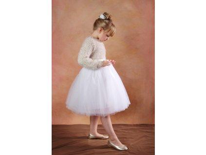 TUTU sukně tylová dětská - BÍLÁ - délka 35 cm a 50 cm