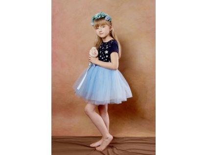 TUTU sukně tylová dětská - SVĚTLE MODRÁ - délka 35 cm