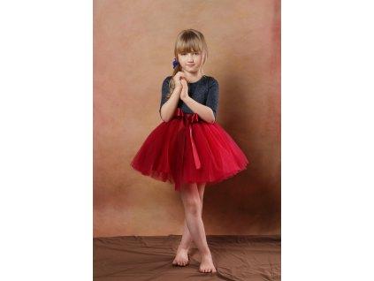 TUTU sukně tylová dětská - VÍNOVÁ - délka 35 cm