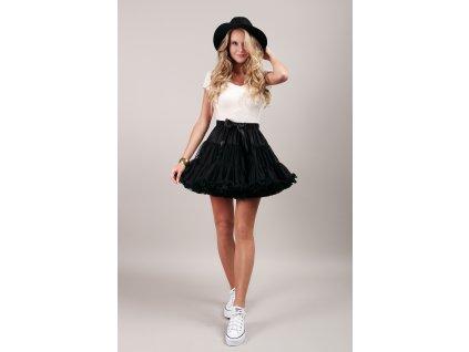 Tutu sukně dámská tylová extra - černá