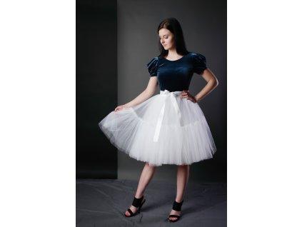 TUTU sukně tylová s kanýrem - bílá