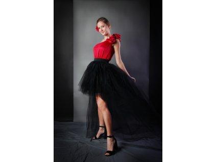 Tutu sukně tylová s vlečkou - černá