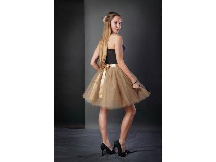 TUTU sukně tylová dámská - CAPPUCCINO