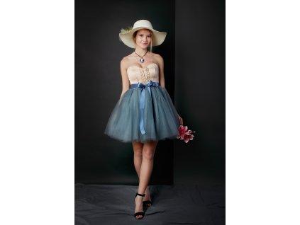 TUTU sukně tylová dámská - TMAVĚ ŠEDÁ