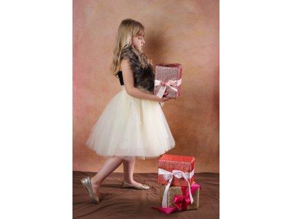 TUTU sukně tylová dětská - ŠAMPAŇSKÉ - délka 35 cm a 50 cm