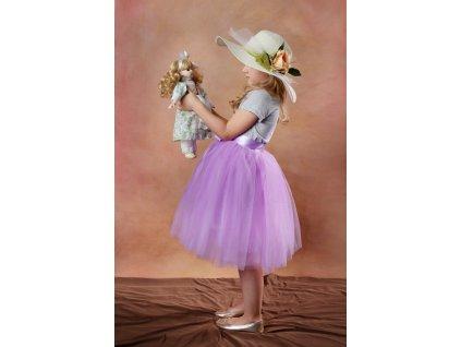 TUTU sukně tylová dětská - LILA - délka 35 cm a 50 cm