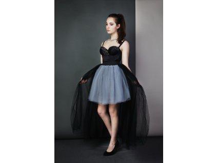 TUTU sukně - STYLOVÁ VLEČKA - černá