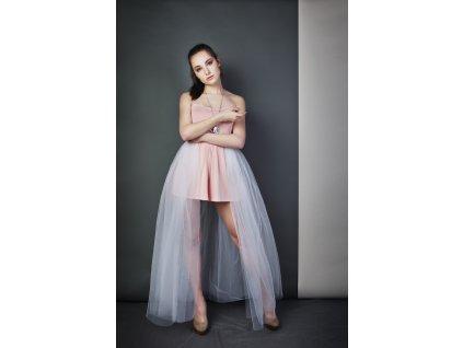 Tutu sukně - stylová vlečka - bílá