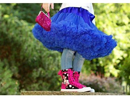 Tutu sukně dětská tylová Maxima - královsky modrá