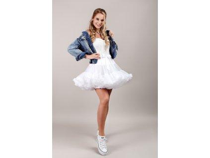 Tutu sukně dámská tylová Maxima - bílá