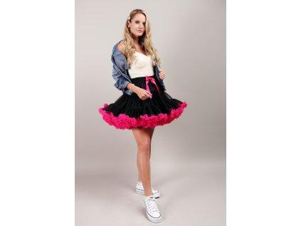 Tutu sukně dámská tylová Maxima - černo růžová