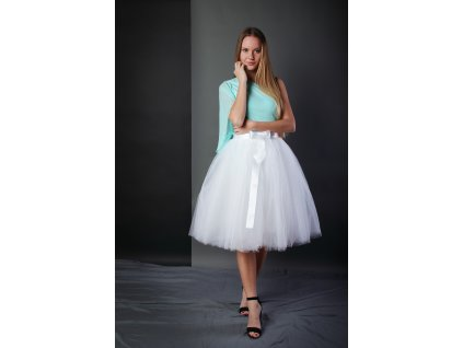 Tutu sukně tylová dámská - bílá - svatební