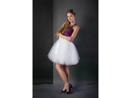 TUTU sukně tylová dámská - BÍLÁ
