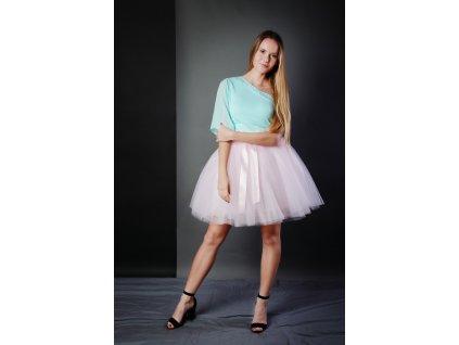 TUTU sukně tylová dámská - SVĚTLE RUŽOVÁ