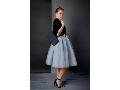 Tutu sukně tylová dámská - šedá
