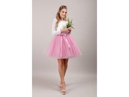 Tutu sukně tylová dámská - korálová - družičky
