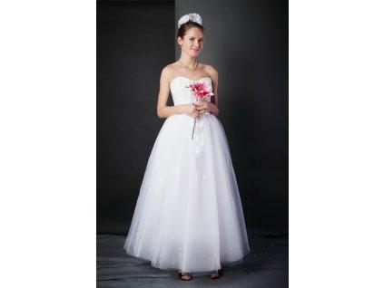 Tutu sukně tylová dámská maxi svatební - bílá