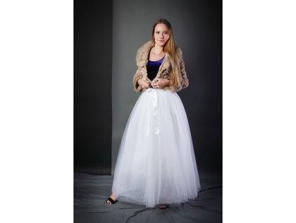TUTU sukně tylová dámská maxi - BÍLÁ