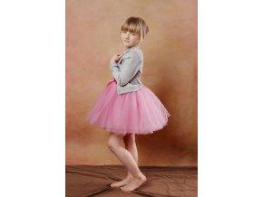 TUTU sukně tylová dětská - KORÁLOVÁ - délka 35 cm
