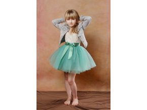 TUTU sukně tylová dětská - SVĚTLE PETROLEJOVÁ - délka 35 cm