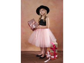 TUTU sukně tylová dětská - MERUŇKOVÁ- délka 35 cm a 50 cm