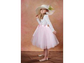 TUTU sukně tylová dětská - SVĚTLE RÚŽOVÁ - délka 35 cm a 50 cm