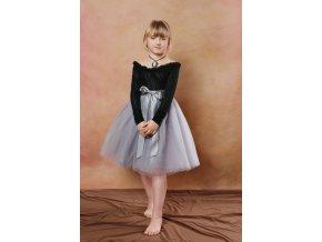 TUTU sukně tylová dětská - ŠEDÁ - délka 35 cm a 50 cm