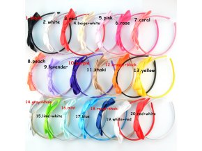 20pcs lot Mix Color Chic European Girl Hair Clasp with Large Satin Ribbon Bow Plastic Headband