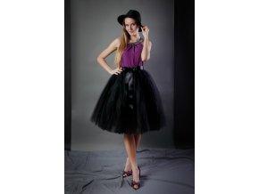 TUTU sukně tylová dámská - ČERNÁ