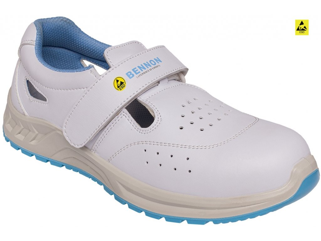 biele pracovne sandale bnn white o1 esd sandal 0675020110