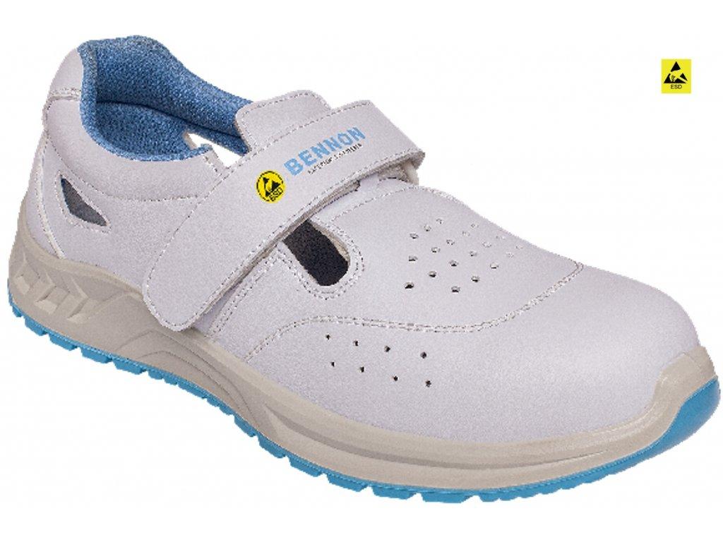 5ea357a7374e Bezpečnostná obuv ADAMANT WHITE S1 Sandal - ADET SK s.r.o.