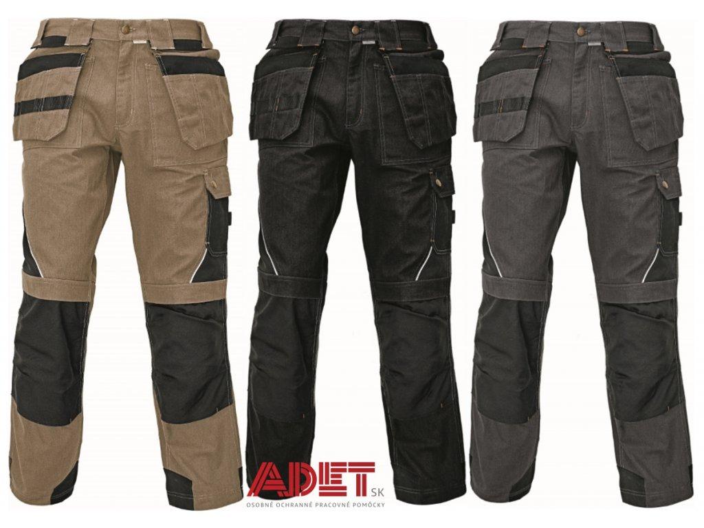 63c7b22ecbf2 Pracovné odevy - montérkové nohavice do pása LAHR ASSENT ČERVA ...