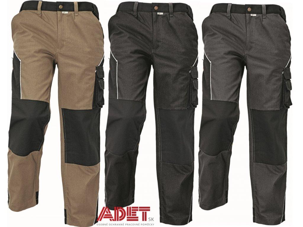 f950d2ea7841 Pracovné odevy - montérkové nohavice do pása ERDING ASSENT ČERVA ...