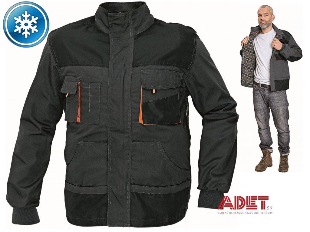 Pracovné odevy - zateplená bunda EMERTON WINTER ČERVA - ADET SK s.r.o. f459a1e59f2