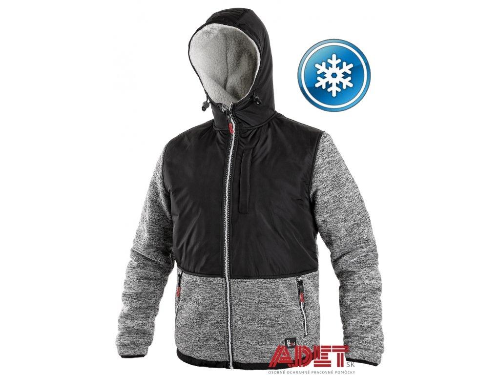 Pracovné odevy - zateplená mikina s kapucňou CXS CARSON - ADET SK s.r.o. b2a5cf1e393