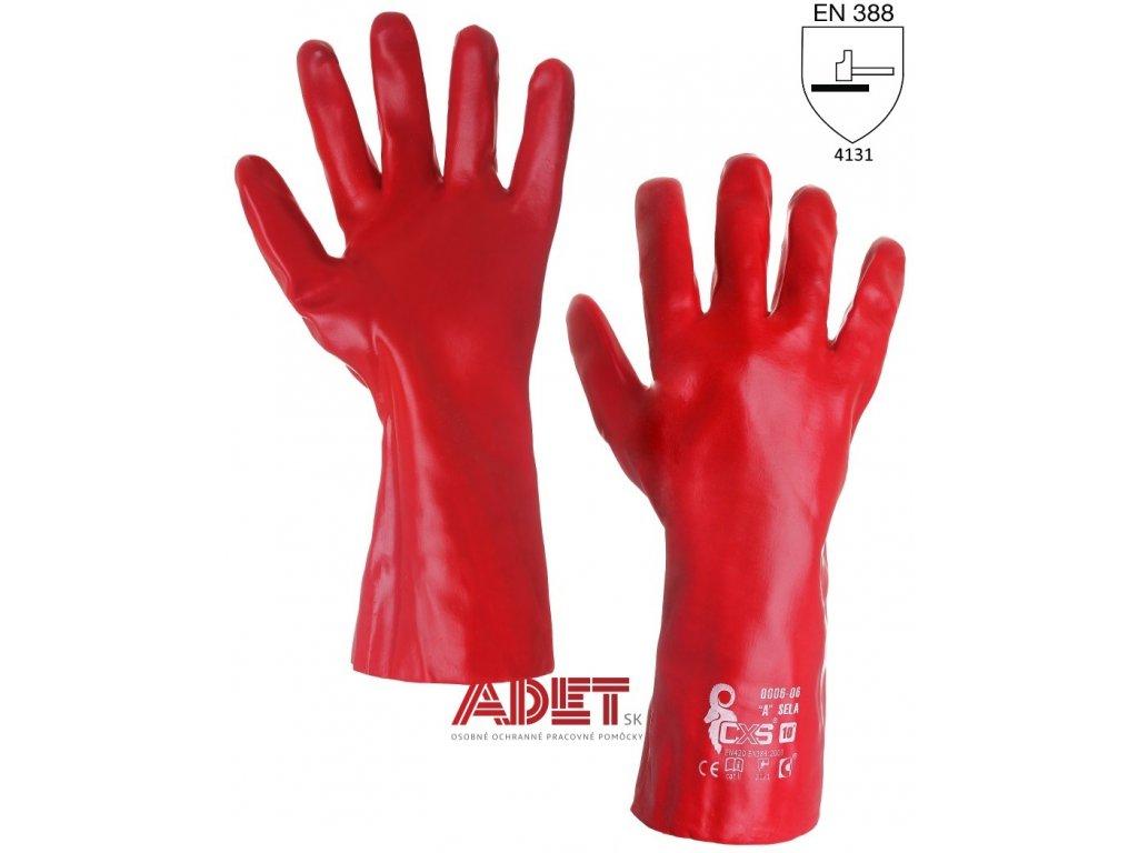 pracovne rukavice cxs sela pvc 343000225010