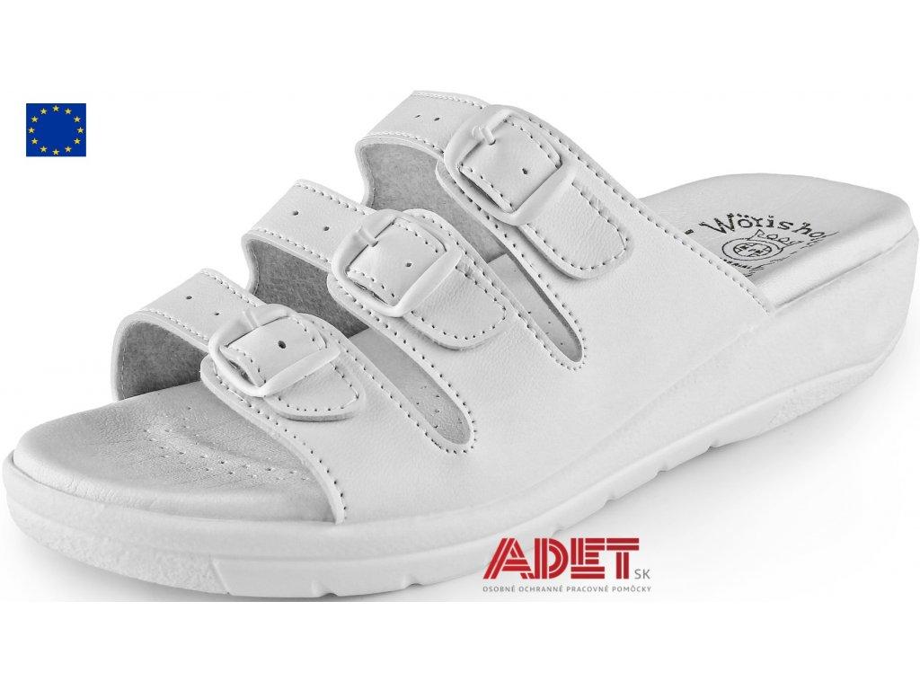 6c238a081ab5 pracovna obuv cxs white and work tera 254000110000. zdravotnícke dámske  šľapky ...
